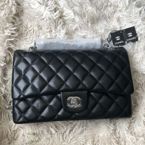 Leather Double Flap Bag